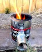 finished homemade rocket stove