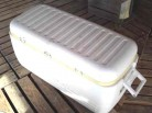 Large white igloo ice chest