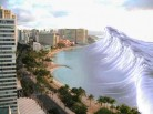 tsunami hitting major city