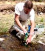 installing homemade electricity generating water turbine