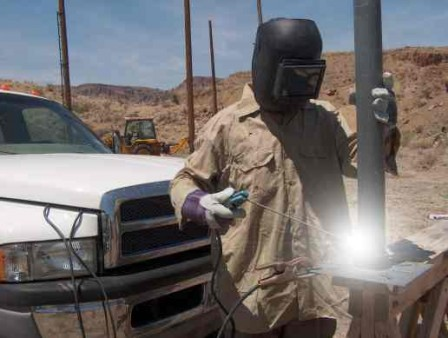 arc welding with car batteries