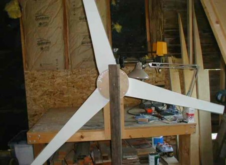 building a windmill in garage