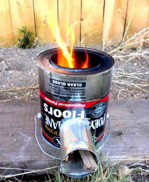 Making A Burner For Cooker ~ Diy build a rocket stove diysufficient