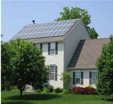 large Solar array on home roof