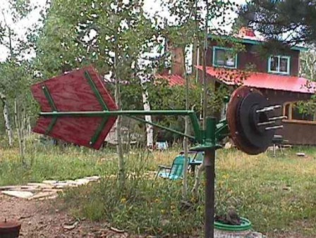 homemade truck axle wind turbine